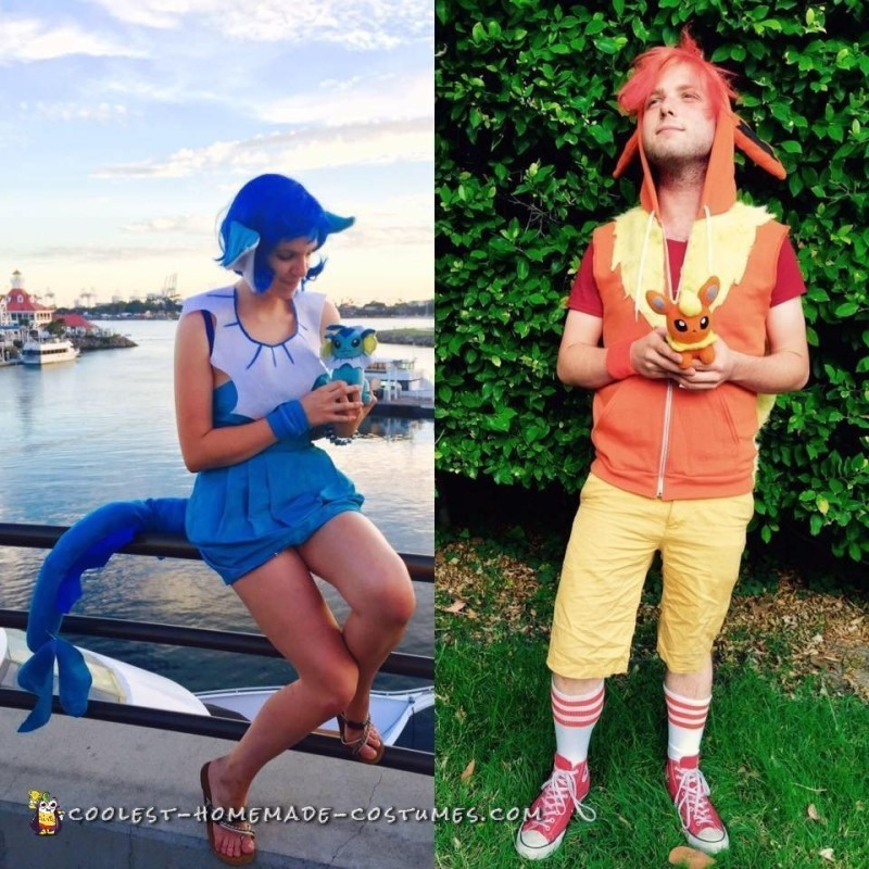 Pokemon in Love: Vaporeon and Flareon Couple Costume - 2
