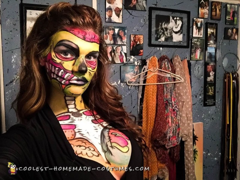 Pop Art Zombie Makeup and Costume