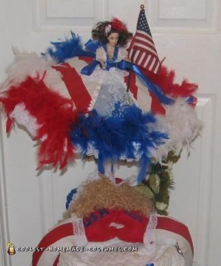 Homemade Dog Costume: Tequila Rose For President