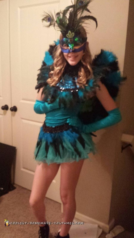 Pretty Peacock Costume for Teenage Girl - 1