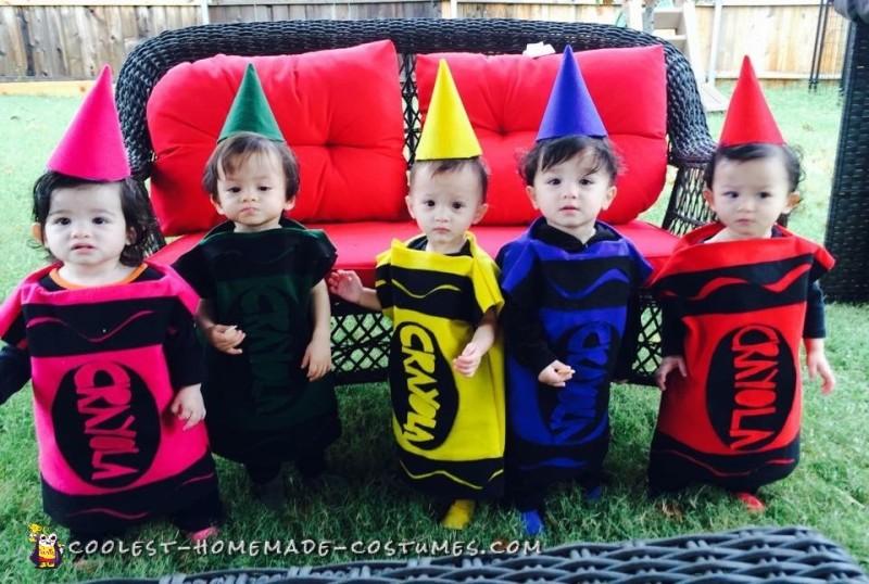 Quintuplets Crayola Crayon Costumes! - 2