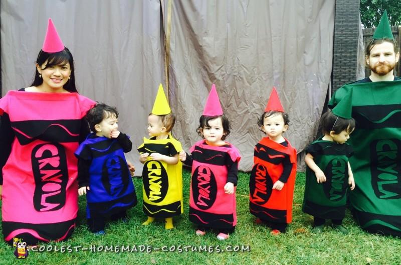 Quintuplets Crayola Crayon Costumes! - 1