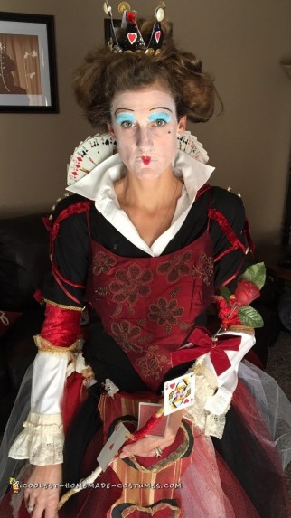 Red Queen of Hearts Costume from 100% Recycled/Thrift Shop Finds