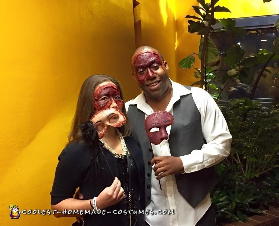 Scariest Couple Costume at the Masquerade Ball