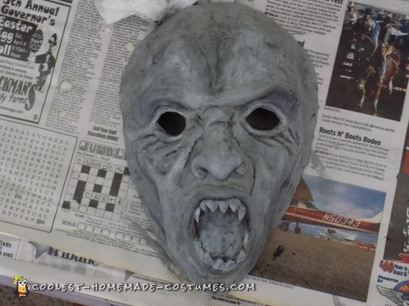 Mask when painted