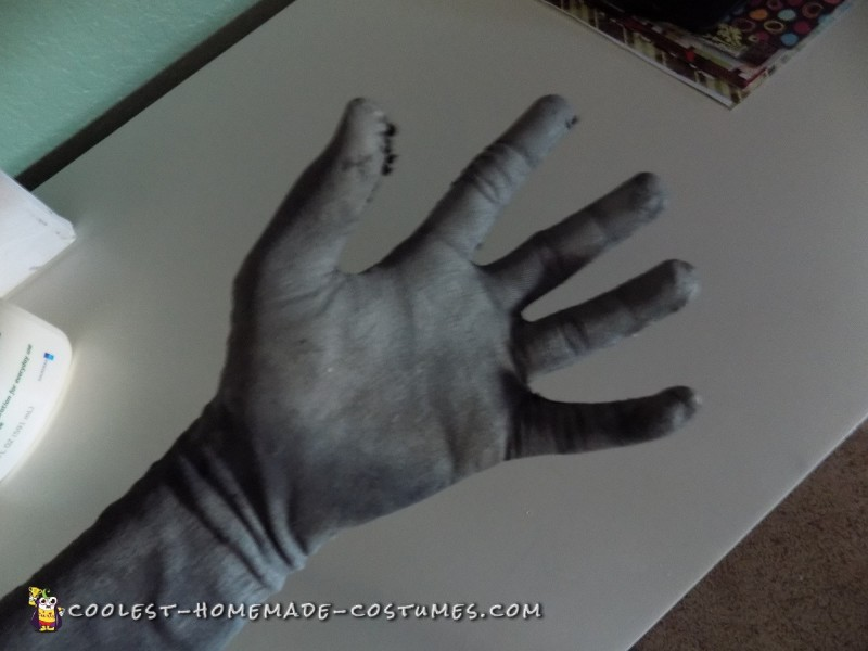 Hand after painting