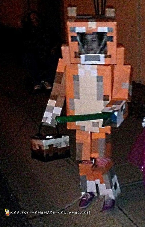 Stampy with cake and sword