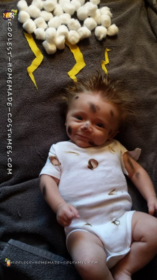 Cutest Ever Struck By Lightning Baby Costume