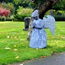 Super Creepy Stone Angel Statue Costume for a Little Girl