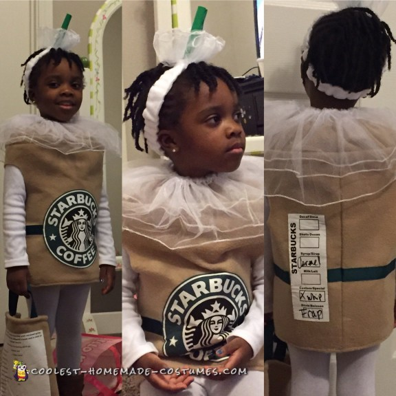 Sweet Caramel Frappuccino Cup Costume