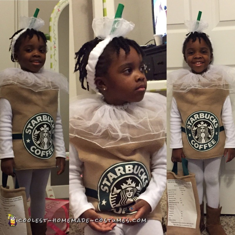 Sweet Caramel Frappuccino Cup Costume - 1