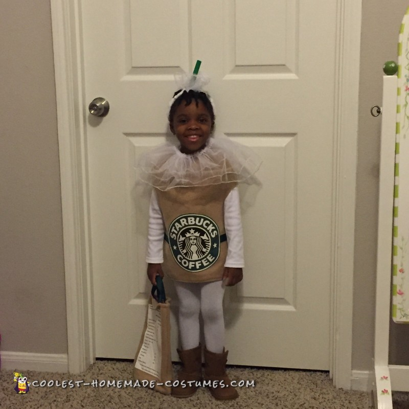 Sweet Caramel Frappuccino Cup Costume - 2