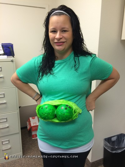 Twin Pregnancy Costume Two Peas in a Pod