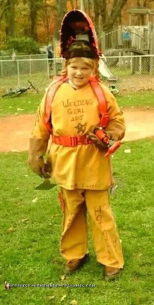 Unique Welding Girl Costume