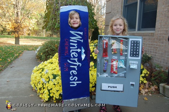 Vending Machine Costume for a Child