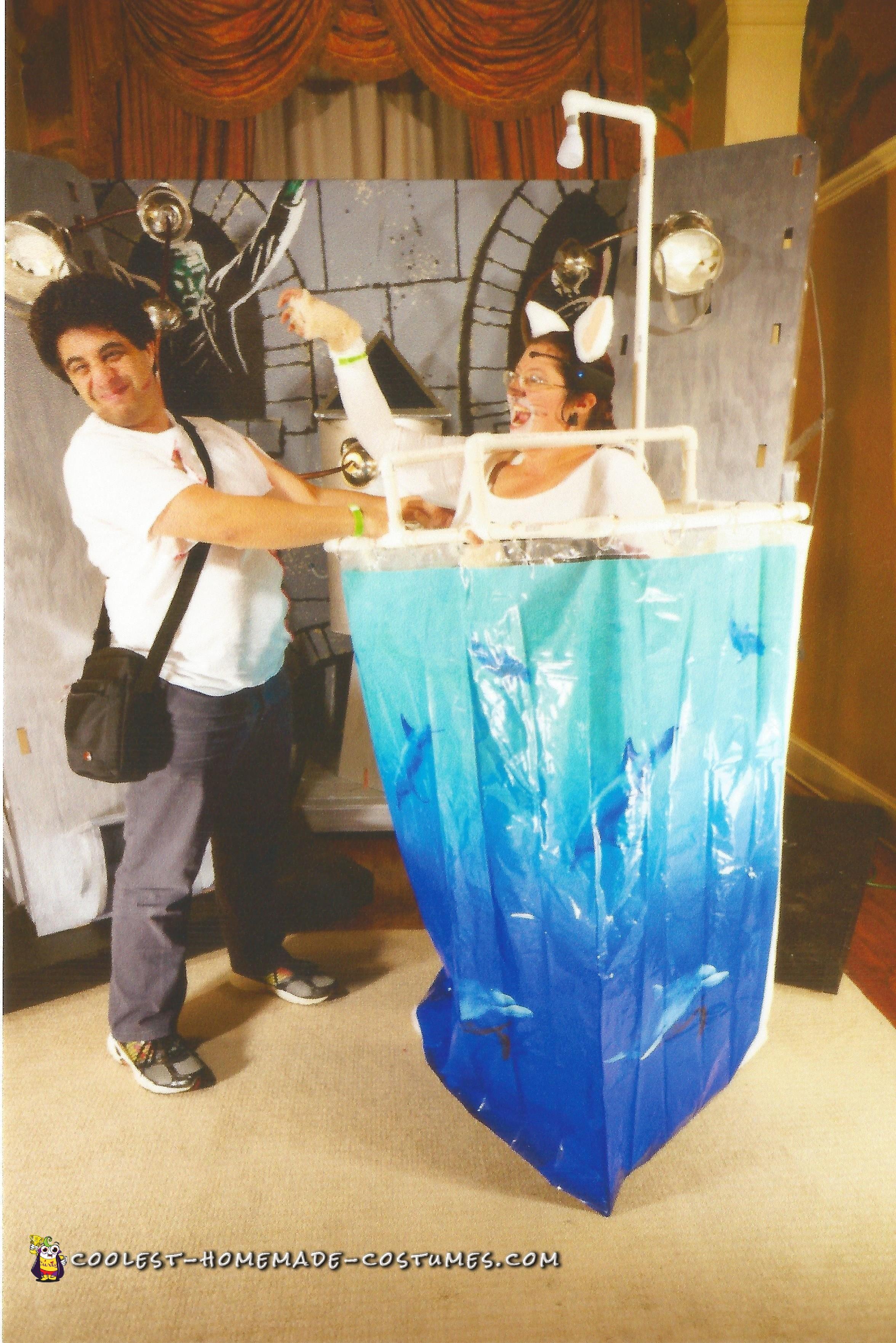Washing the Cat Couple Costume