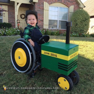 Wheelchair John Deere Tractor and Farmer Costume