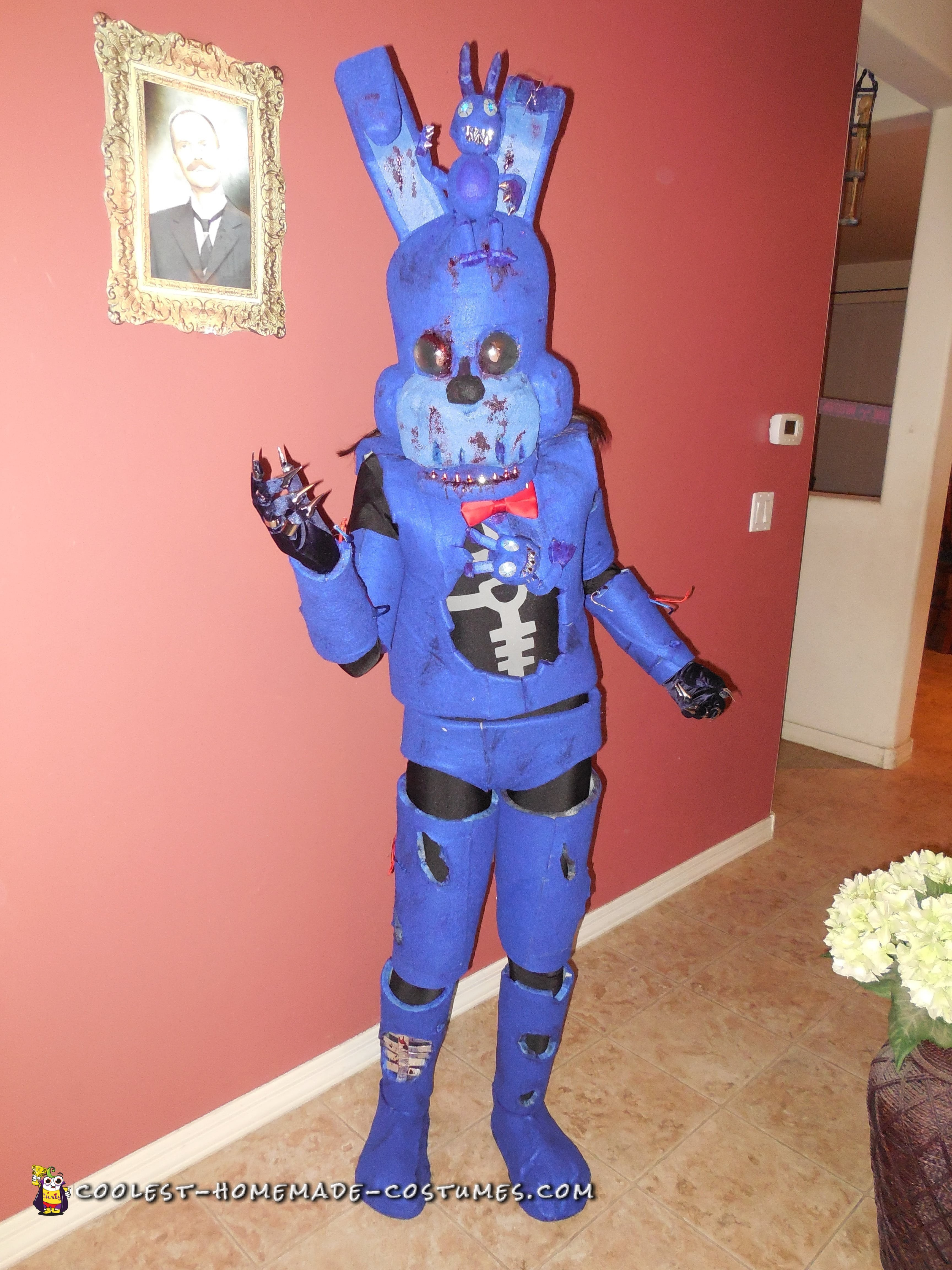 13 Year Old Creates Bonnie Costume On Her Own