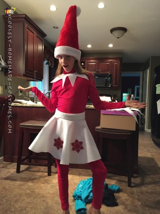 Elf on a Shelf DIY Illusion Costume