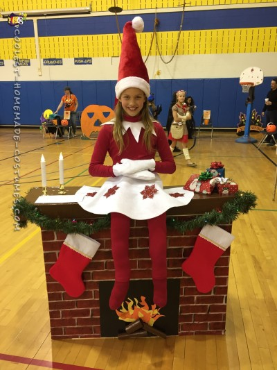 Elf on a Shelf DIY Illusion Costume