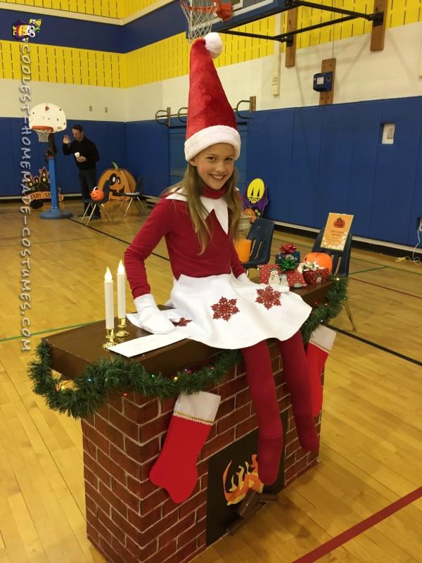 Elf on a Shelf DIY Illusion Costume - 3