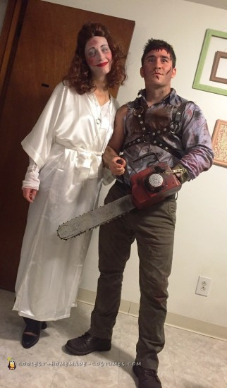 Ash and Linda Costumes from the Evil Dead