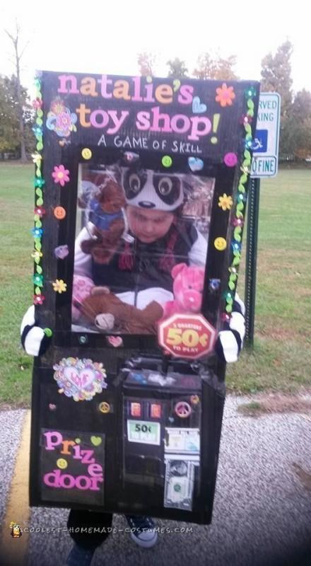 Award Winning DIY Stuffed Animal Claw Machine Costume - 1