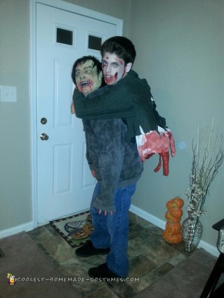 Torn Gut Hanging Zombie Illusion Costume
