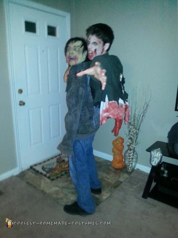 Torn Gut Hanging Zombie Illusion Costume - 1