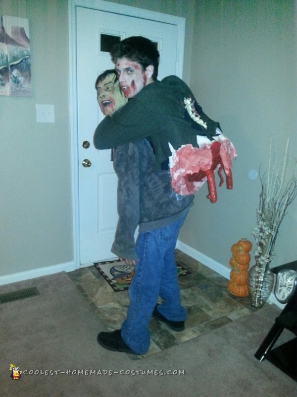 Torn Gut Hanging Zombie Illusion Costume - 2