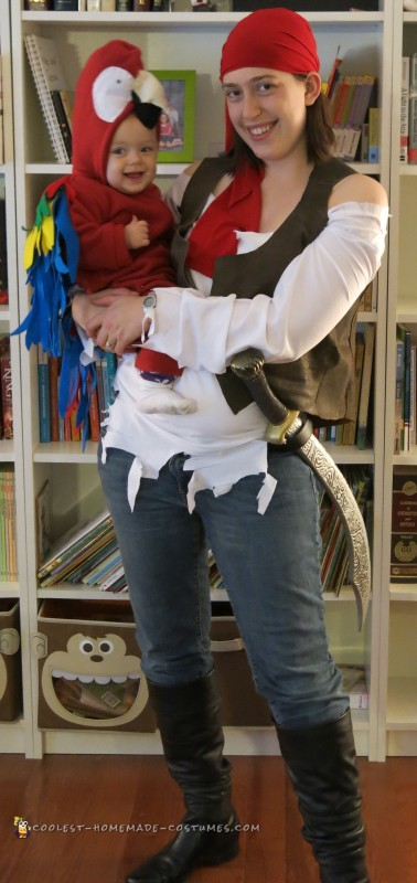 Pirate and Parrot not in baby carrier