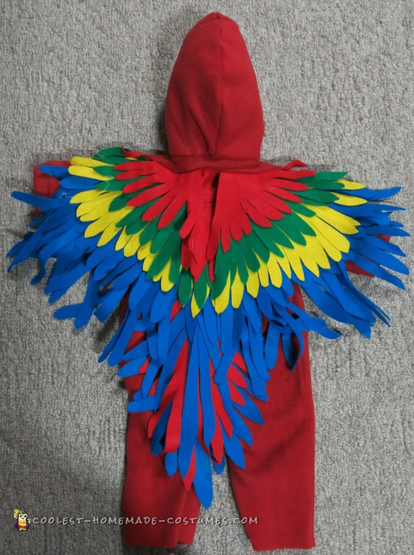 back of parrot costume