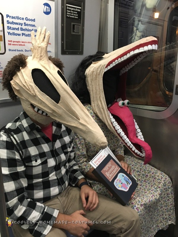 """This commute is killing us!"" Adam and Barbara on NYC Subway."