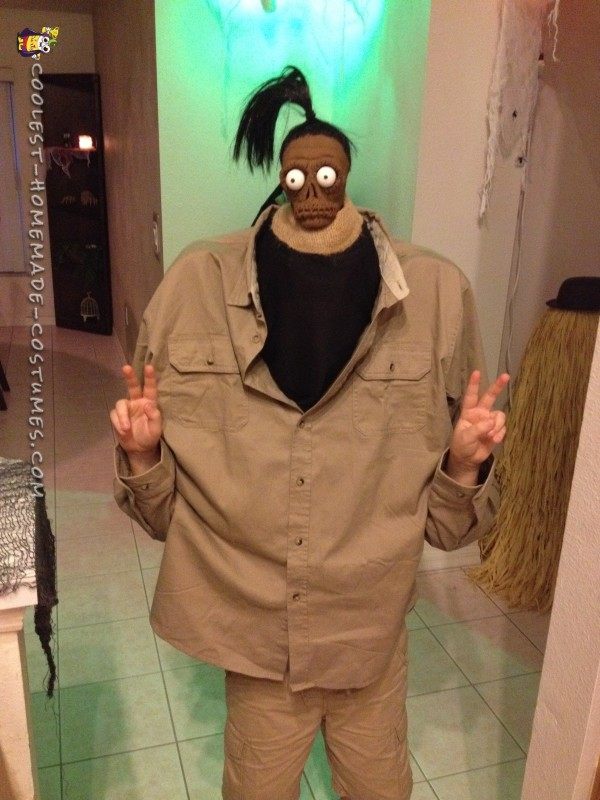 Beetlejuice Shrunken Head Man Costume
