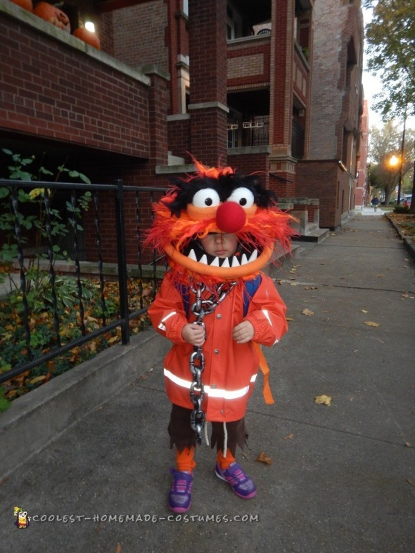 Best Animal from the Muppets DIY Toddler Costume