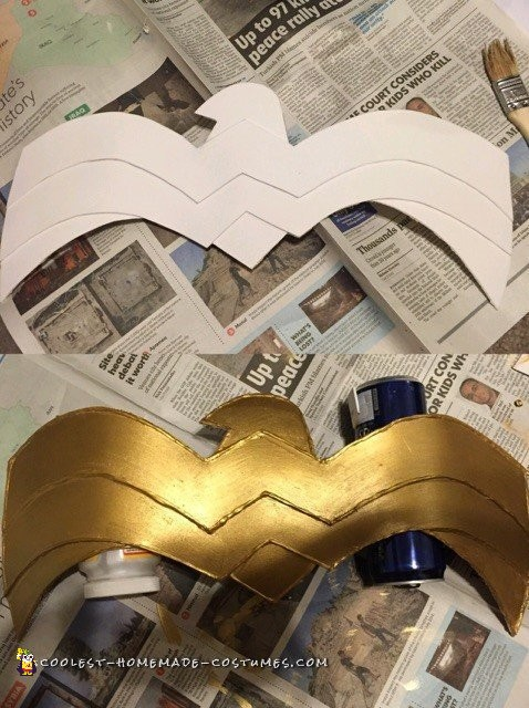 Best Ever Homemade Wonder Woman Costume - 5