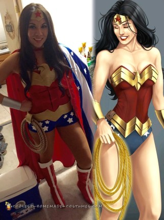 Best Ever Homemade Wonder Woman Costume