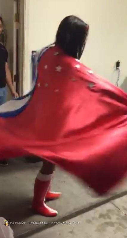 Best Ever Homemade Wonder Woman Costume - 3