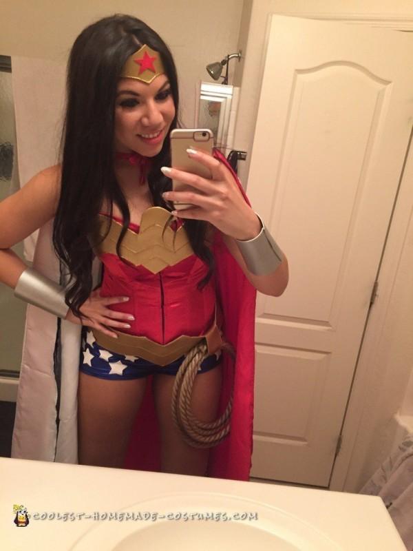Best Ever Homemade Wonder Woman Costume - 2