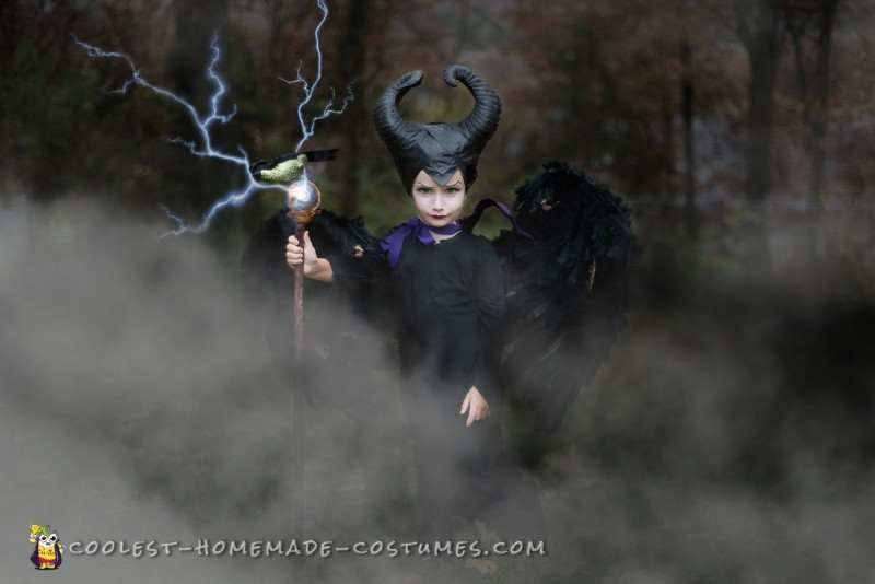 Full view 4 year old Maleficent