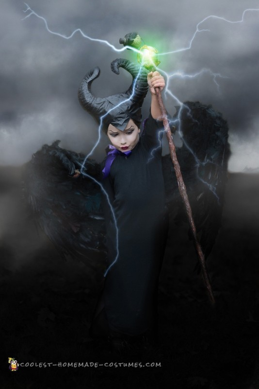 Another full body view of 4 year old Maleficent