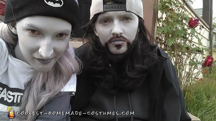 Black and White Jay and Silent Bob From Clerks - 1
