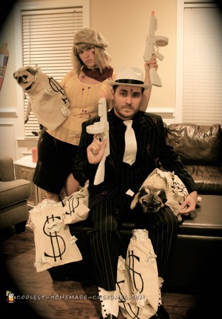 Bonnie and Clyde Couple Costume: The Final Showdown