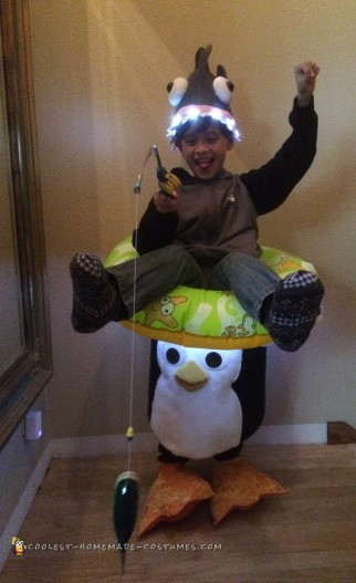Boy On a Penguin Ride Illusion Costume