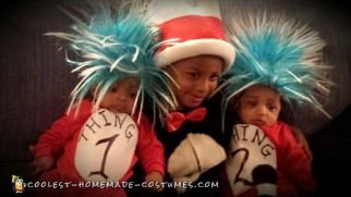 Thing 1 and 2 and Cat in the Hat Costumes