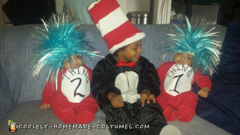 Cat in the Hat & Thing 1 & 2  Lounging