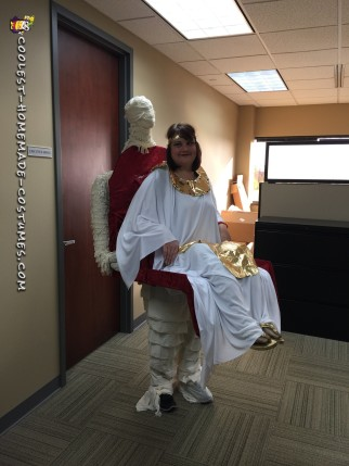 Cleopatra Being Carried by Her Mummy Illusion Costume
