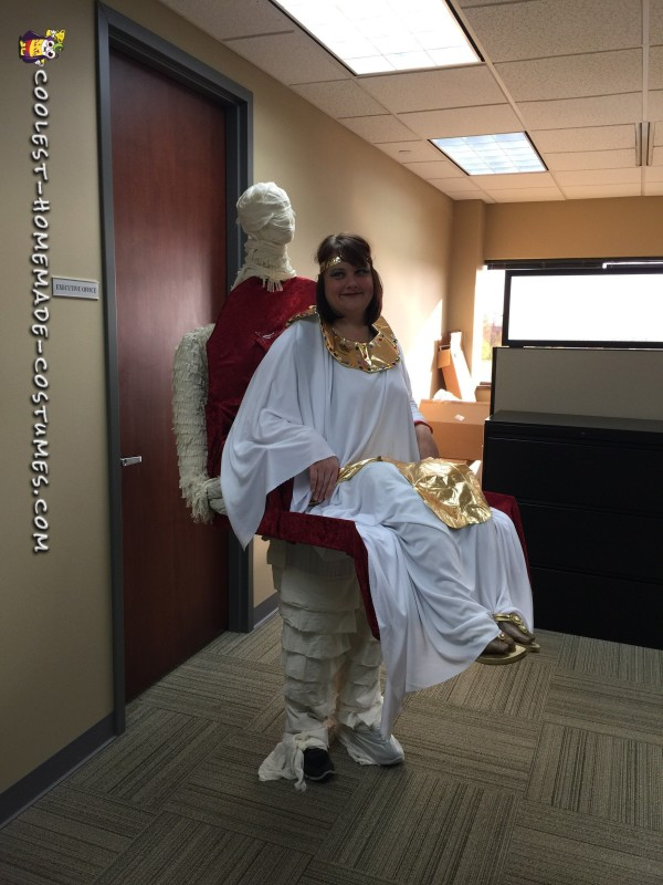 Cleopatra Being Carried by Her Mummy Illusion Costume - 1