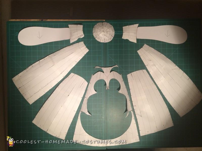 Cardstock cutouts for Bing Bong's head