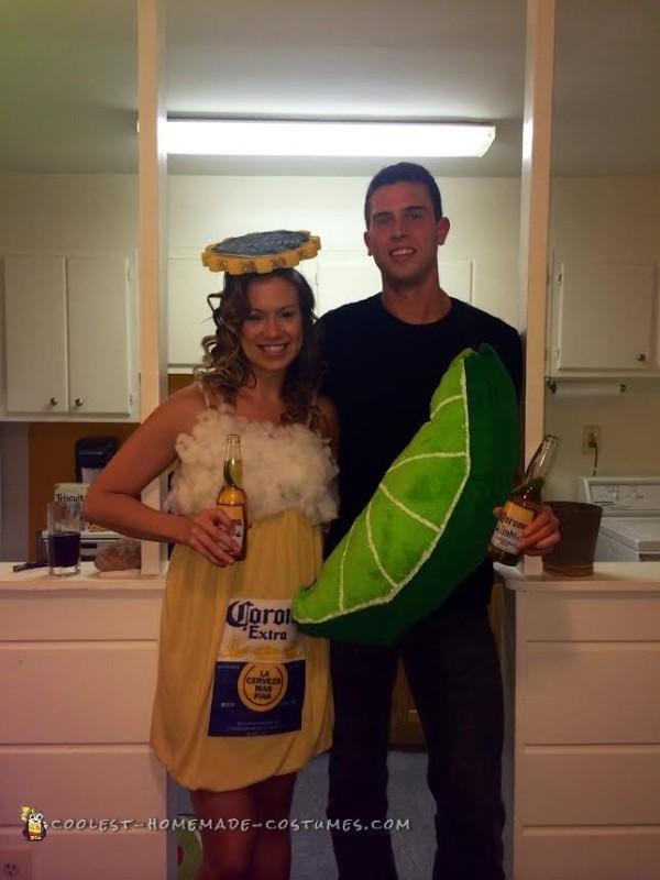 Corona and Lime Homemade Couple Costume